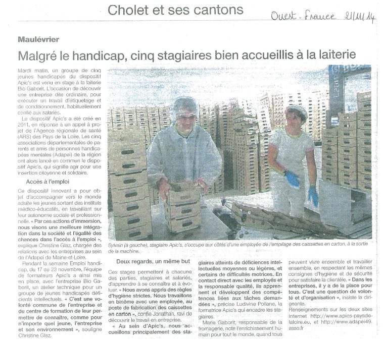 ouest france du 25 novembre 2014