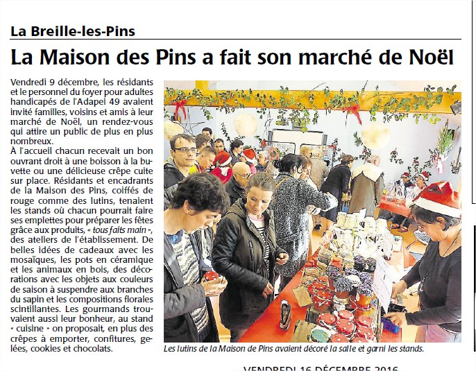 article courrier de l'ouest du 16 decembre