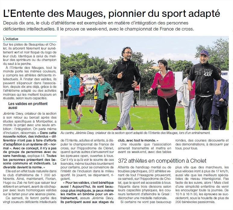 Article de Ouest France  du 11 mars 2017
